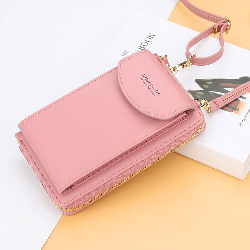 OMNIDEN Pink Matilda Phone Crossbody Bag