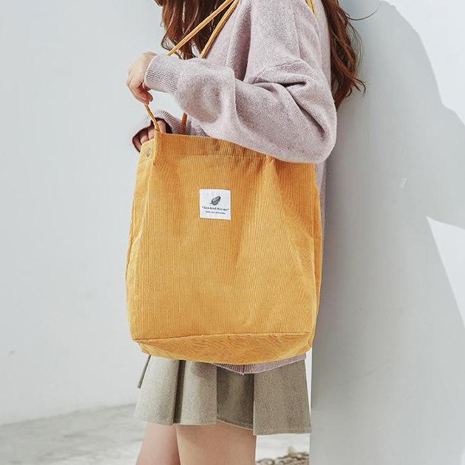 OMNIDEN Yellow Lynne Corduroy Shoulder Bag