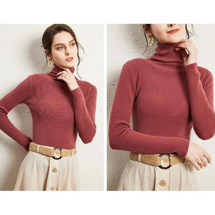 OMNIDEN Coral Red / 0-2 Aloma Turtleneck Jumper