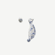 Load image into Gallery viewer, Dots (Blue) Bird earrings Begoña Palacios
