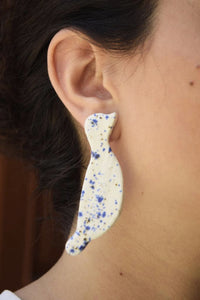 Dots (Blue) Bird earrings Begoña Palacios