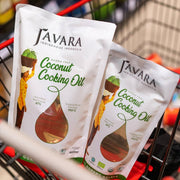 Javara - Coconut Cooking Oil Pouch (Aroma Free, 900 mL)
