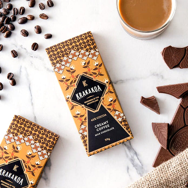 Krakakoa - Flavored Milk Chocolate, Creamy Coffee