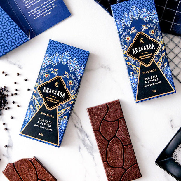 Krakakoa - Flavoured Dark Chocolate, Sea Salt & Pepper