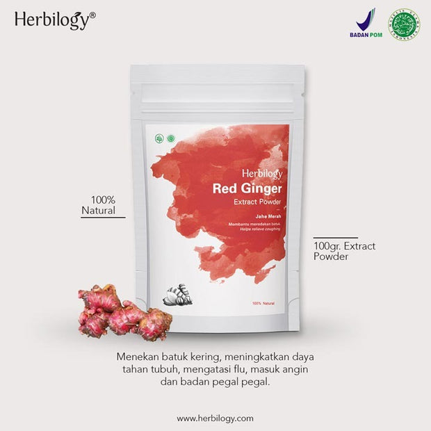 Herbilogy - Red Ginger / Jahe Merah Extract Powder