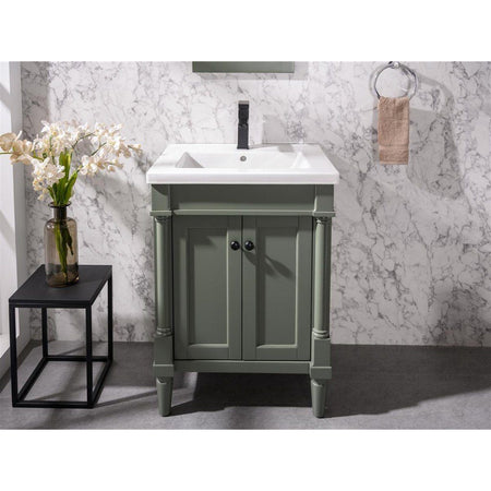 "24"" Bath Vanity with White Ceramic Top Legion Furniture Vanities"
