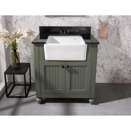 "Legion Furniture 30"" Sink Vanity with Black Granite Top Legion Furniture 30 inch Single Vanity"