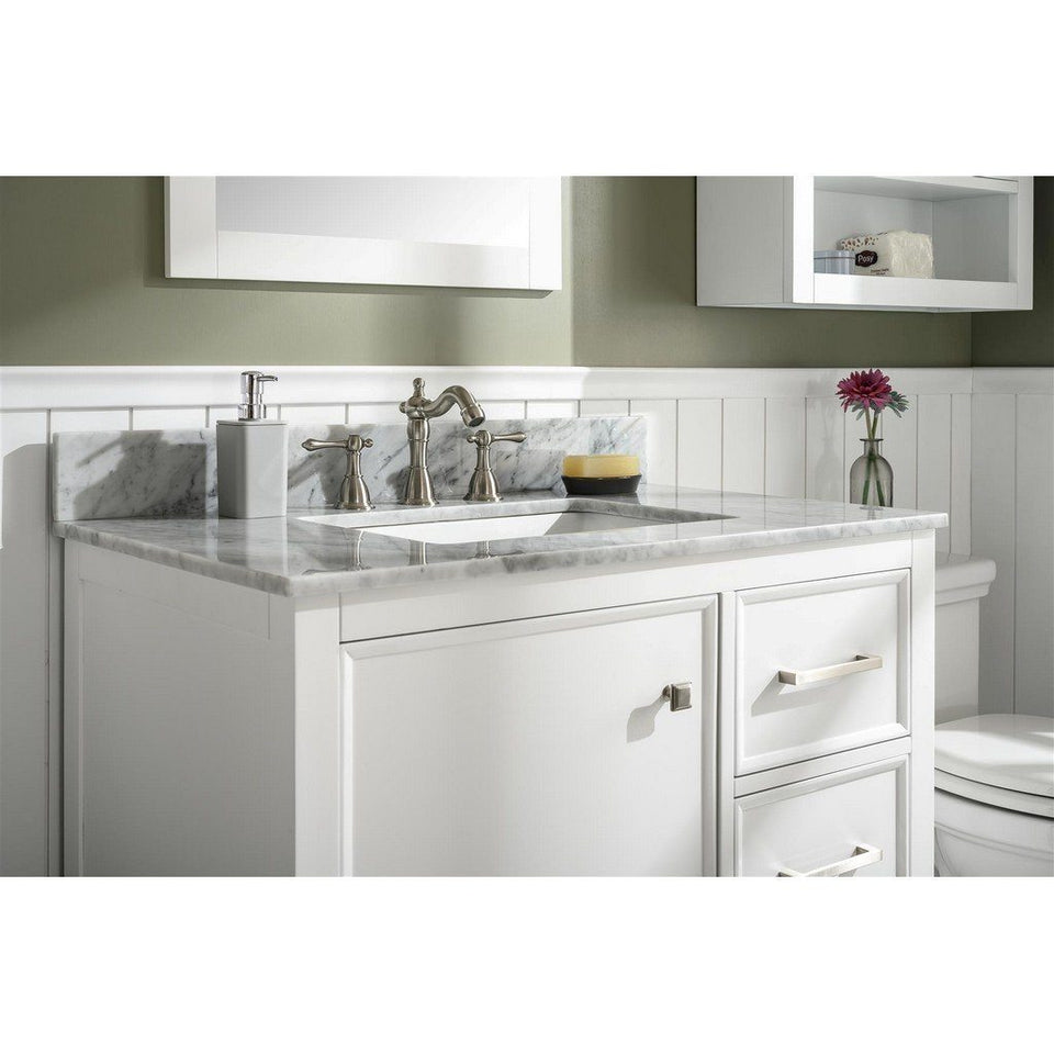 "36"" Single-Sink Vanity Cabinet with Marble Top Legion Furniture Vanities"