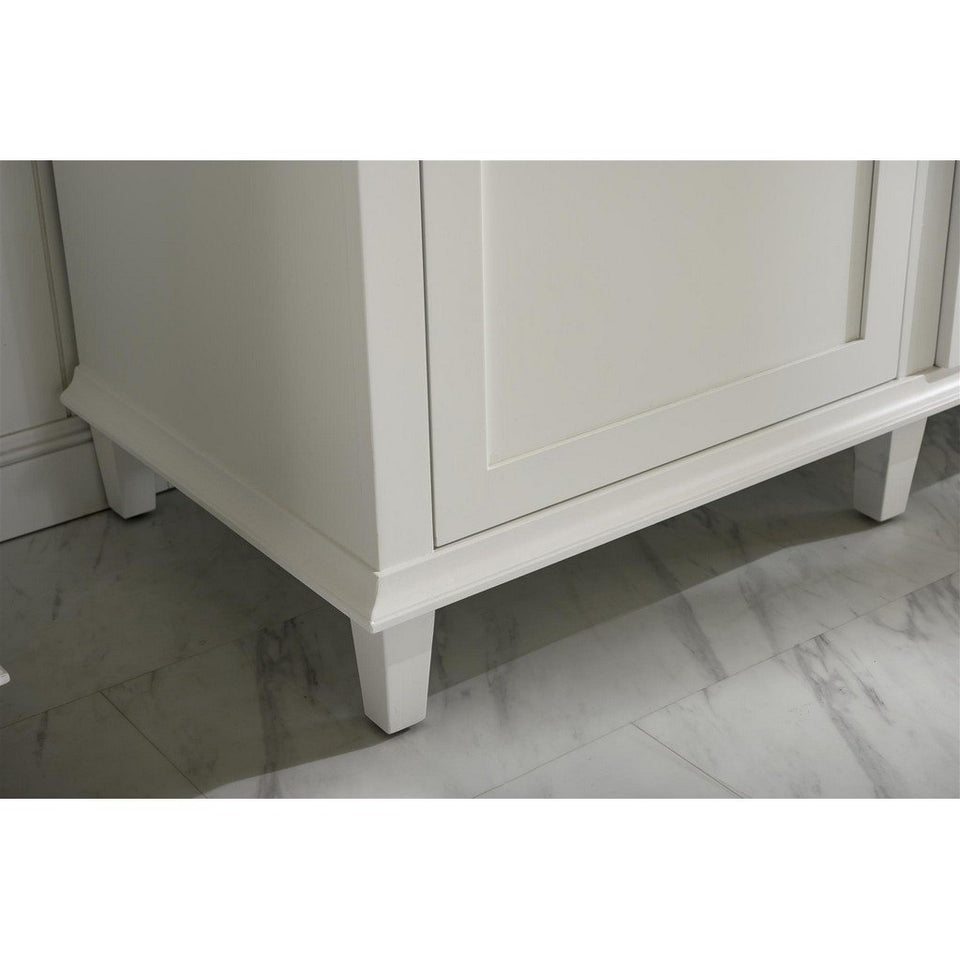 "72"" Double-Single Sink Vanity Cabinet with Marble Top Legion Furniture Vanities"