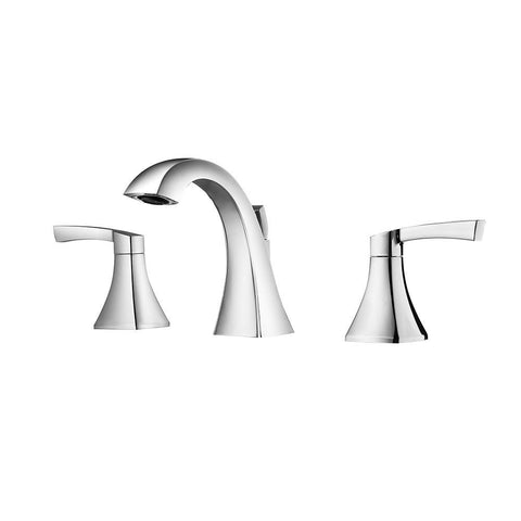 Abbie Two-Handle 8-Inch Widespread Bathroom Faucet Vinnova Faucets Polished Chrome