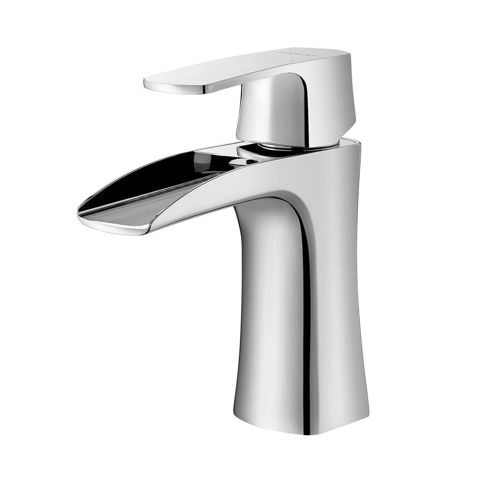 Alessandra Single-Lever Vessel Bathroom Faucet Vinnova Faucets Polished Chrome