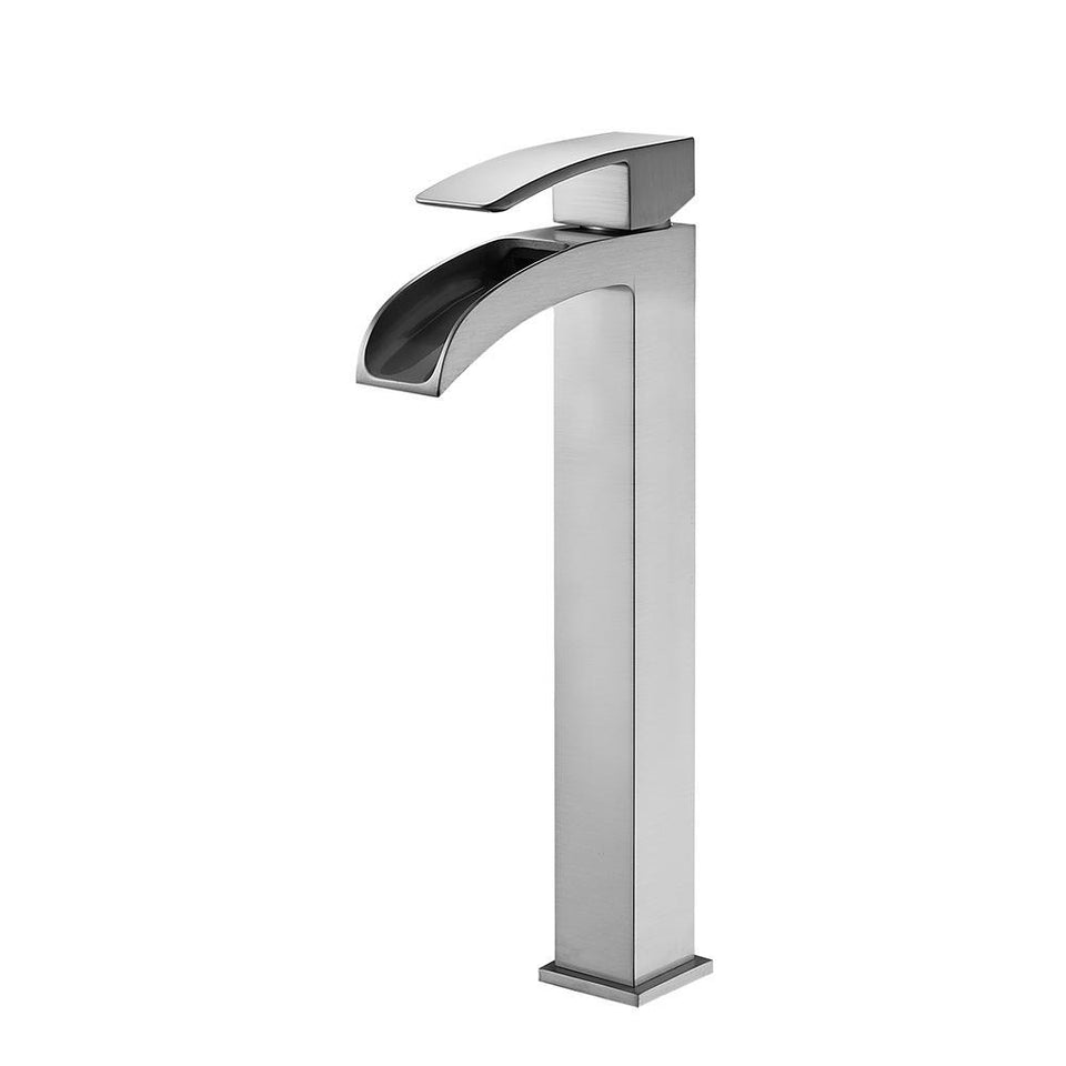 Belair Single Lever Vessel Bathroom Faucet Vinnova Faucets Satin Nickel