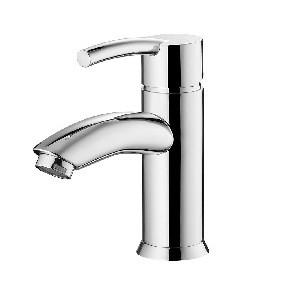 Bliss Single-Handle Basin Bathroom Faucet Vinnova Faucets Polished Chrome
