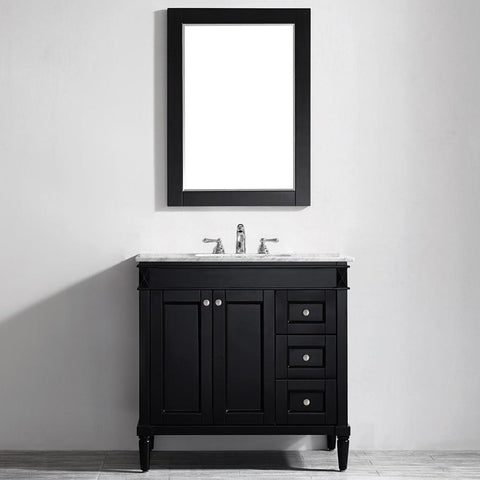 "Catania 36"" Vanity in Espresso with Carrara White Marble Countertop Vinnova Vanities"