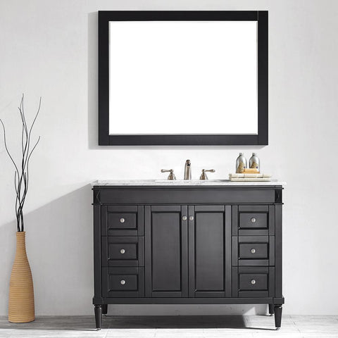 "Catania 48"" Vanity in Espresso with Carrara White Marble Countertop Vinnova Vanities"