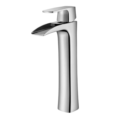 Ciara Single-Lever Vessel Bathroom Faucet Vinnova Faucets Polished Chrome