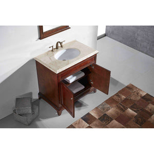 "Eviva Elite Stamford 30"" Bathroom Vanity with Double Ogee Edge Countertop and Undermount Porcelain Sink Eviva Vanities"