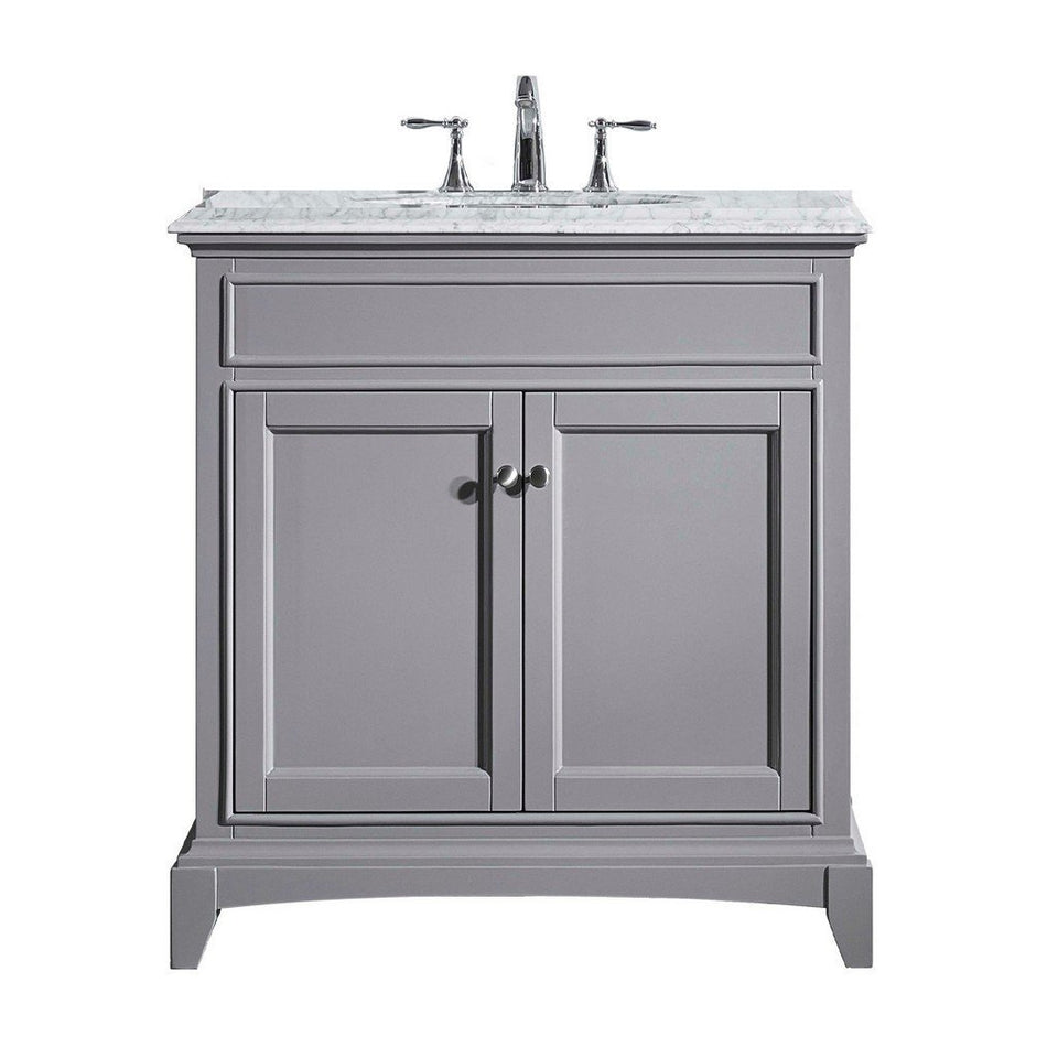 "Eviva Elite Stamford 30"" Bathroom Vanity with Double Ogee Edge Countertop and Undermount Porcelain Sink Eviva Vanities Gray"