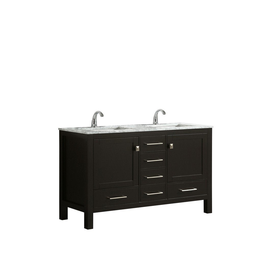 "Eviva London 48 x 18"" Transitional Double Sink Bathroom ..."