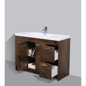 "Eviva Lugano 48"" Modern Bathroom Vanity with White Integrated Acrylic Top Eviva Vanities"