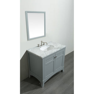 "Eviva New York 30"" Bathroom Vanity with White Carrara Countertop and Undermount Porcelain Sink Eviva Vanities"