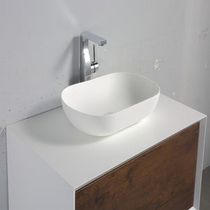 "Eviva Santa Monica 36"" Wall Mount Bathroom Vanity with Solid Surface Vessel Sink Eviva Vanities"