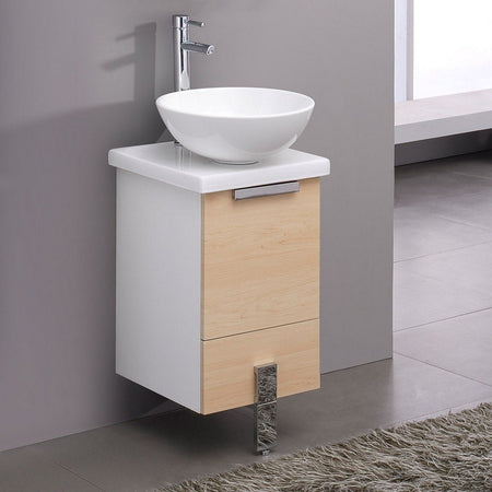 "Fresca Adour 16"" Modern Bathroom Cabinet with Top & Vessel Sink Fresca 16 inch Single Vanity"