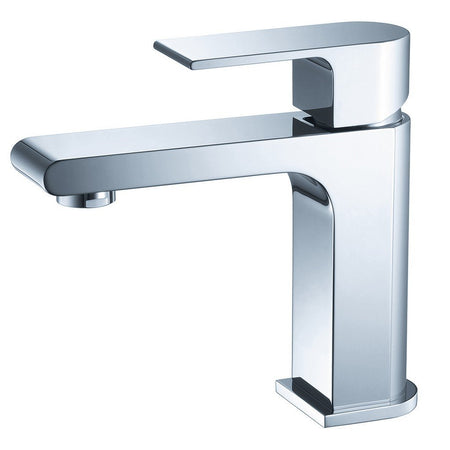 Fresca Allaro Single Hole Mount Bathroom Vanity Faucet Fresca Faucets Chrome