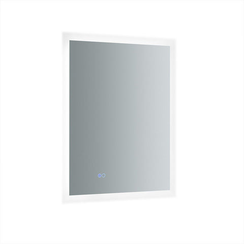 "Fresca Angelo 24"" Wide x 30"" Tall Bathroom Mirror with Halo Style LED Lighting and Defogger Fresca Mirrors Glass"