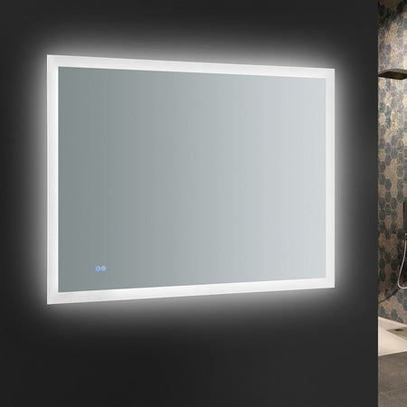 "Fresca Angelo 48"" Wide x 36"" Tall Bathroom Mirror with Halo Style LED Lighting and Defogger Fresca Mirrors"