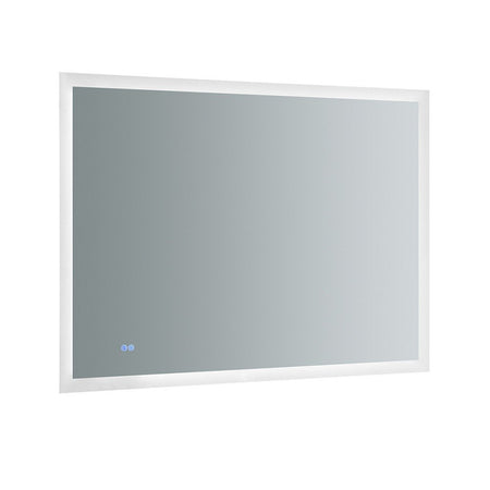 "Fresca Angelo 48"" Wide x 36"" Tall Bathroom Mirror with Halo Style LED Lighting and Defogger Fresca Mirrors Glass"