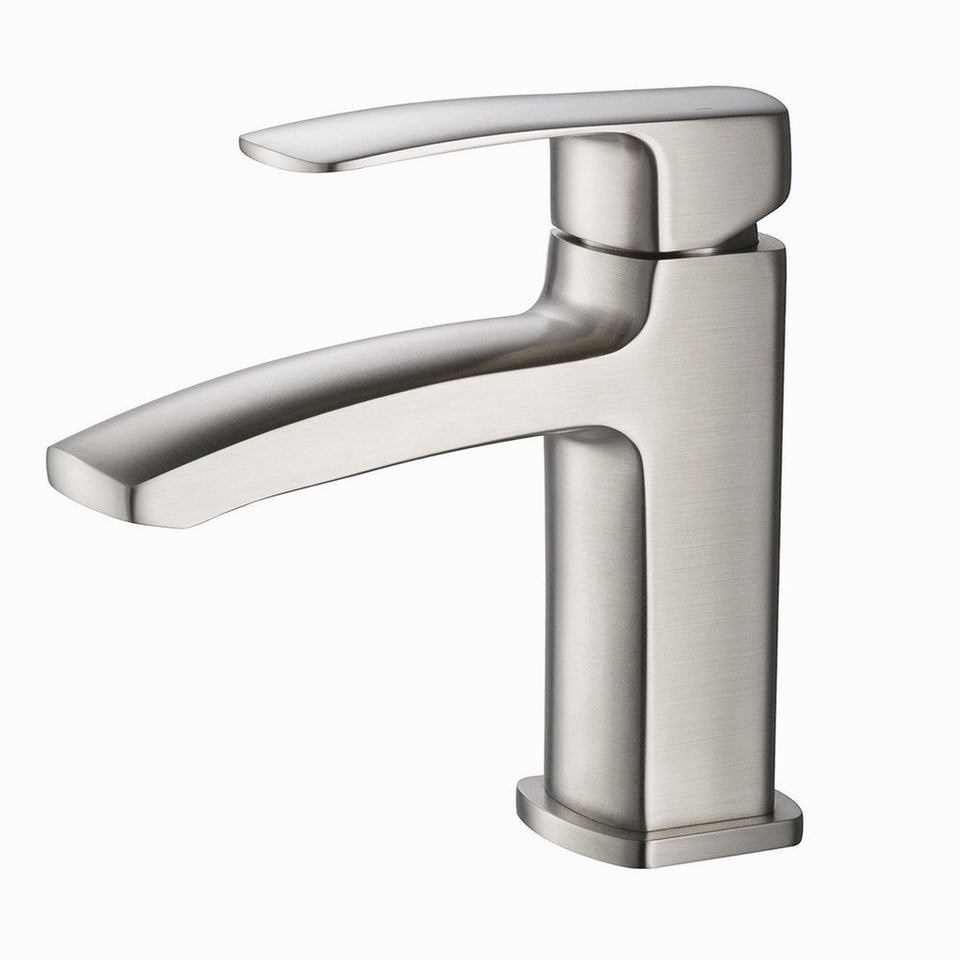 Fresca Fiora Single Hole Mount Bathroom Vanity Faucet Fresca Faucets Brushed Nickel