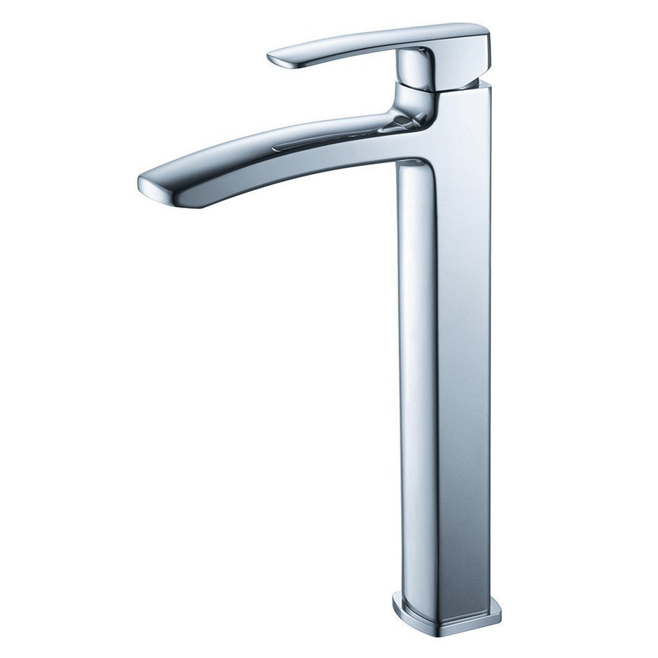 Fresca Fiora Single Hole Vessel Mount Bathroom Vanity Faucet Fresca Faucets Chrome