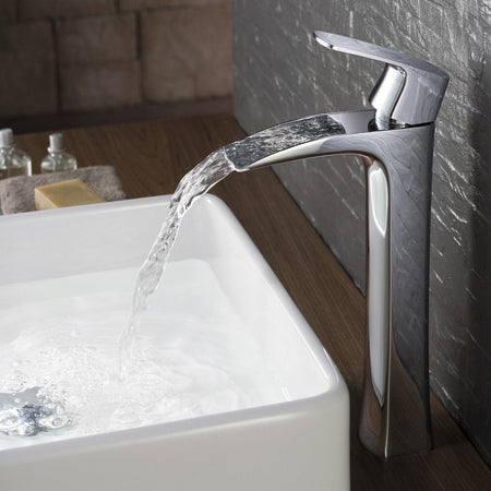 Fresca Fortore Single Hole Vessel Mount Bathroom Vanity Faucet Fresca Faucets