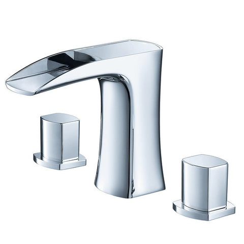 Fresca Fortore Widespread Mount Bathroom Vanity Faucet Fresca Faucets Chrome