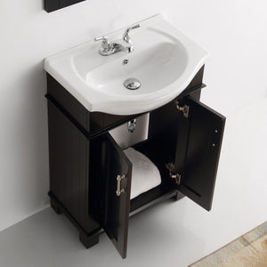 "Fresca Hartford 24"" Traditional Bathroom Vanity Fresca 24 inch Single Vanity"