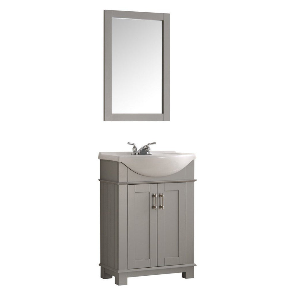 "Fresca Hartford 24"" Traditional Bathroom Vanity Fresca 24 inch Single Vanity Gray"