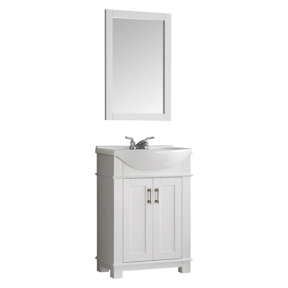 "Fresca Hartford 24"" Traditional Bathroom Vanity Fresca 24 inch Single Vanity White"
