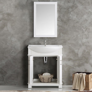 "Fresca Hartford 30"" Traditional Bathroom Vanity Fresca 30 inch Single Vanity"