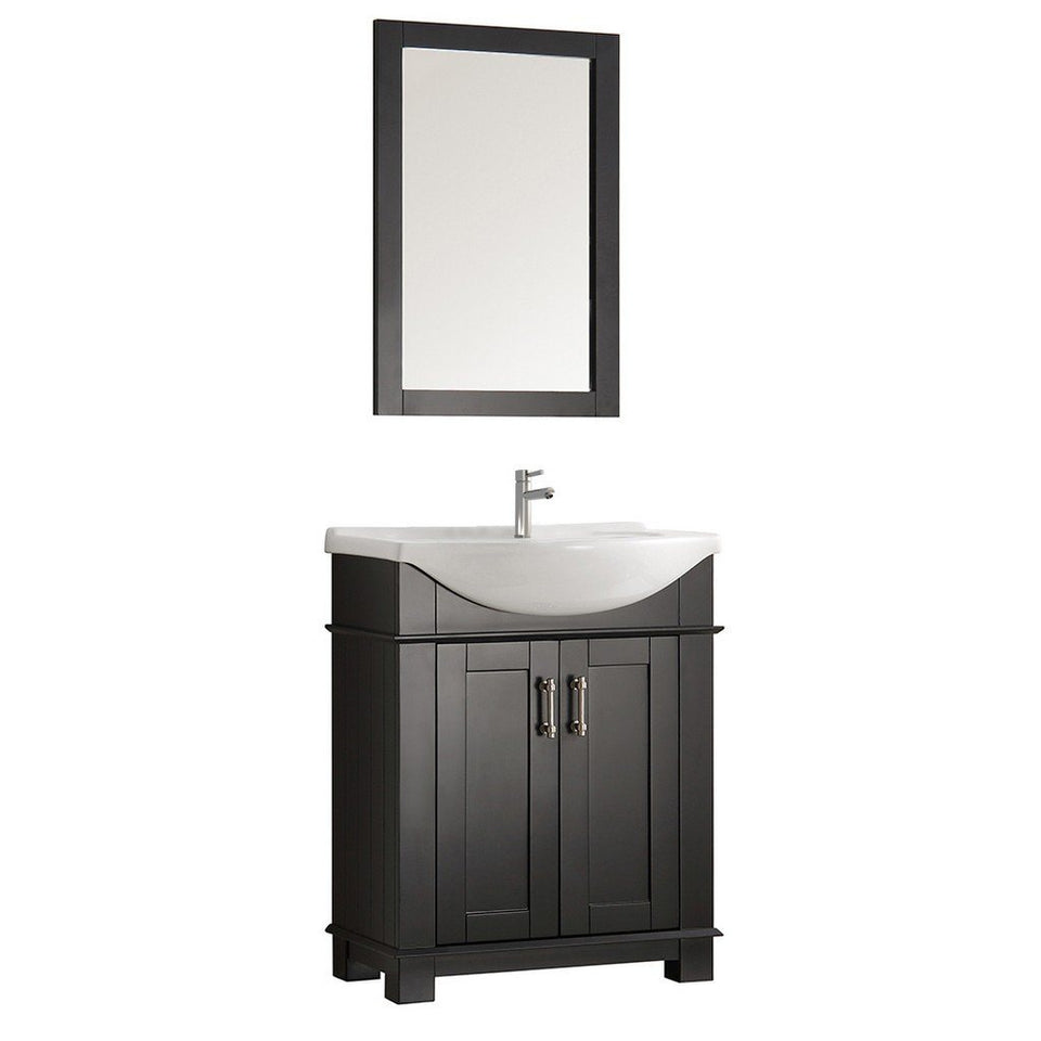 "Fresca Hartford 30"" Traditional Bathroom Vanity Fresca 30 inch Single Vanity Black"