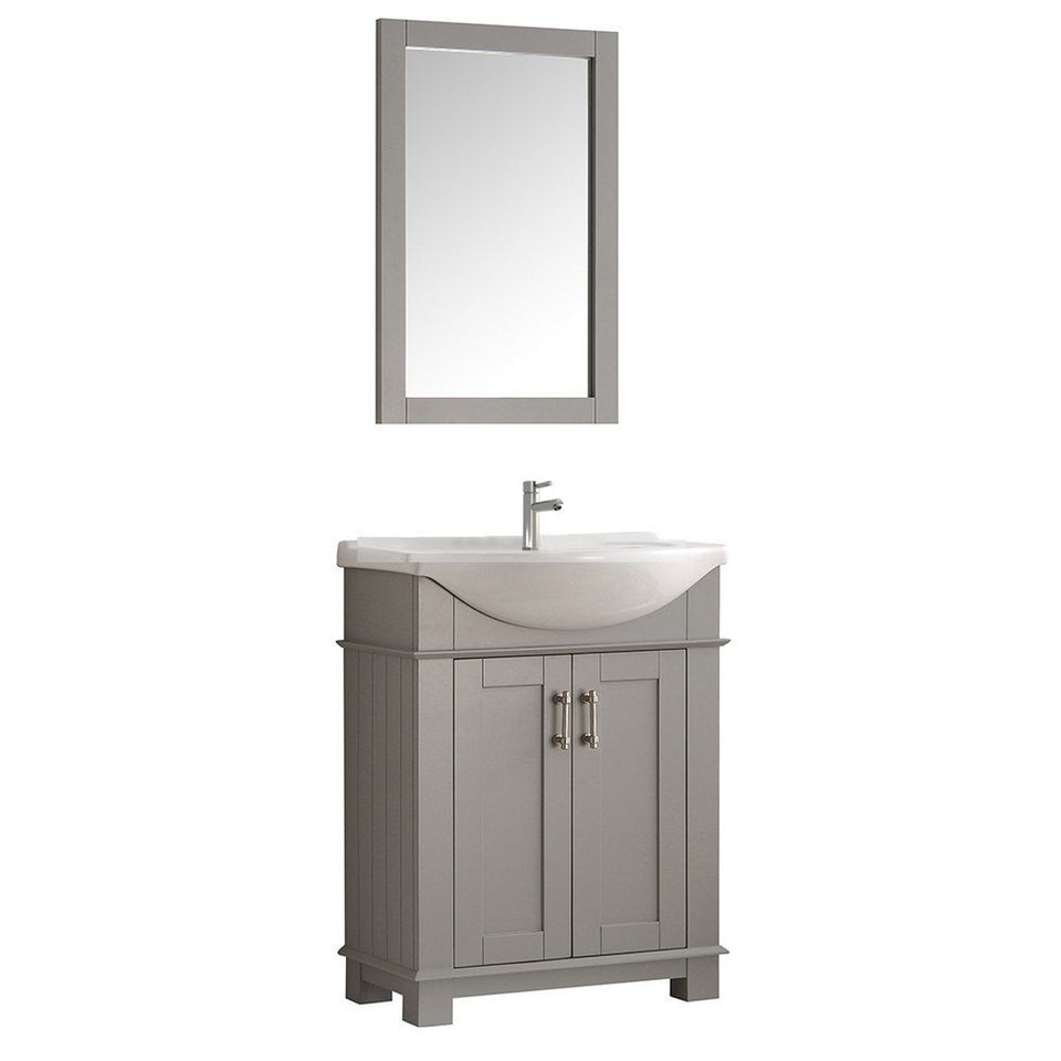 "Fresca Hartford 30"" Traditional Bathroom Vanity Fresca 30 inch Single Vanity Gray"