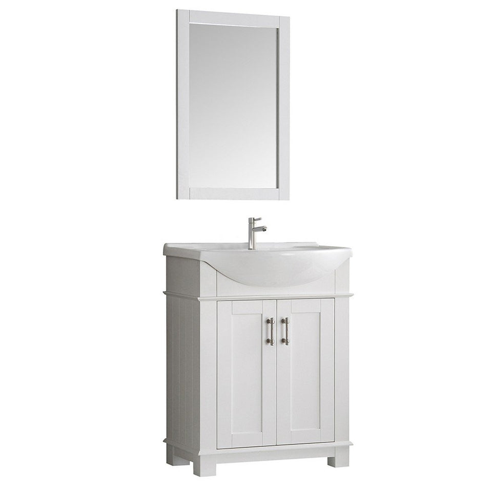 "Fresca Hartford 30"" Traditional Bathroom Vanity Fresca 30 inch Single Vanity White"