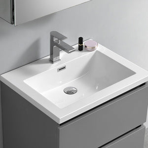 "Fresca Lazzaro 24"" Free Standing Modern Bathroom Cabinet with Integrated Sink Fresca 24 inch Single Vanity"