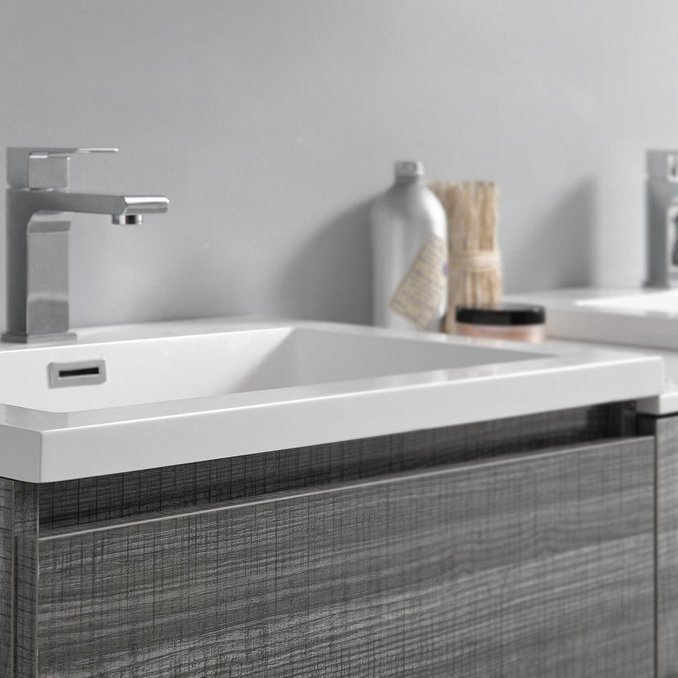 "Fresca Lazzaro 60"" Free Standing Double Sink Modern Bathroom Cabinet with Integrated Sinks Fresca 60 inch Double Vanity"