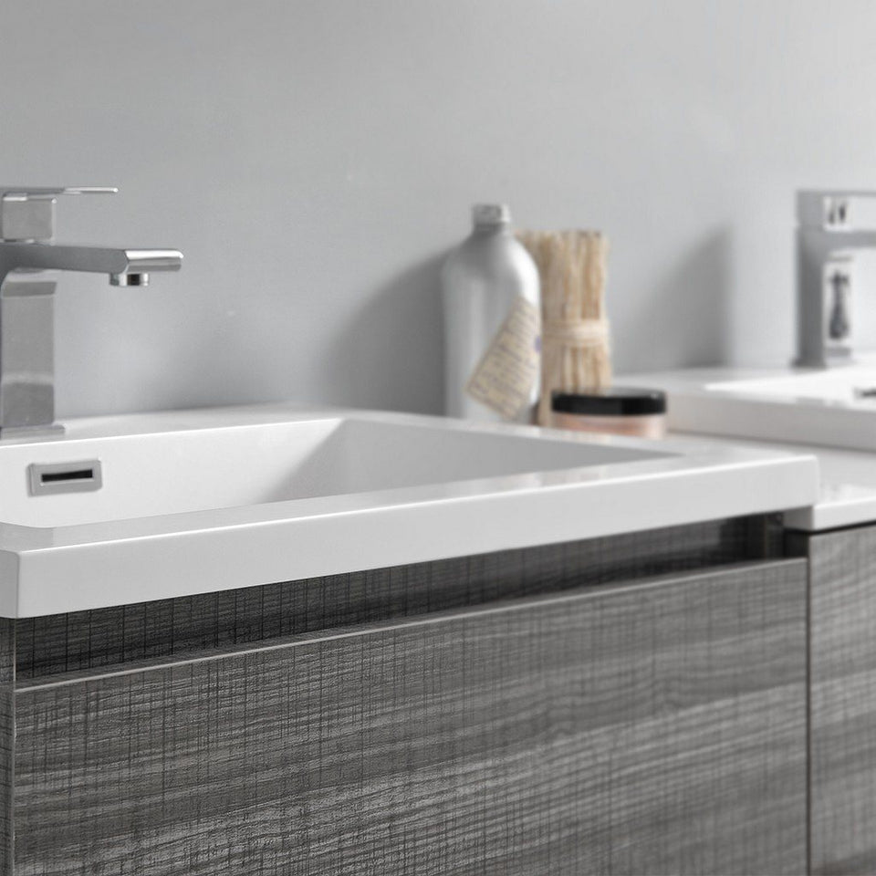 "Fresca Lazzaro 72"" Free Standing Double Sink Modern Bathroom Cabinet with Integrated Sinks Fresca 72 inch and larger Double Vanity"