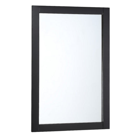 "Fresca Manchester 20"" Traditional Bathroom Mirror Fresca Mirrors Matte Black"
