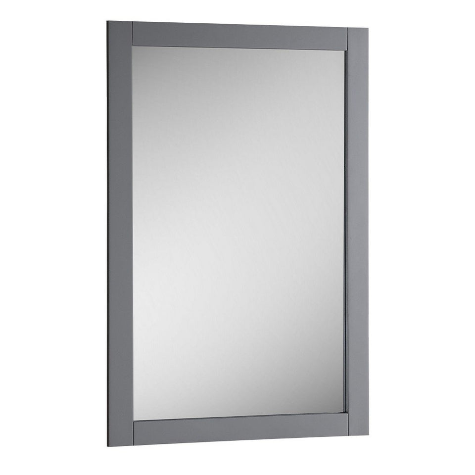 "Fresca Manchester 20"" Traditional Bathroom Mirror Fresca Mirrors Matte Gray"