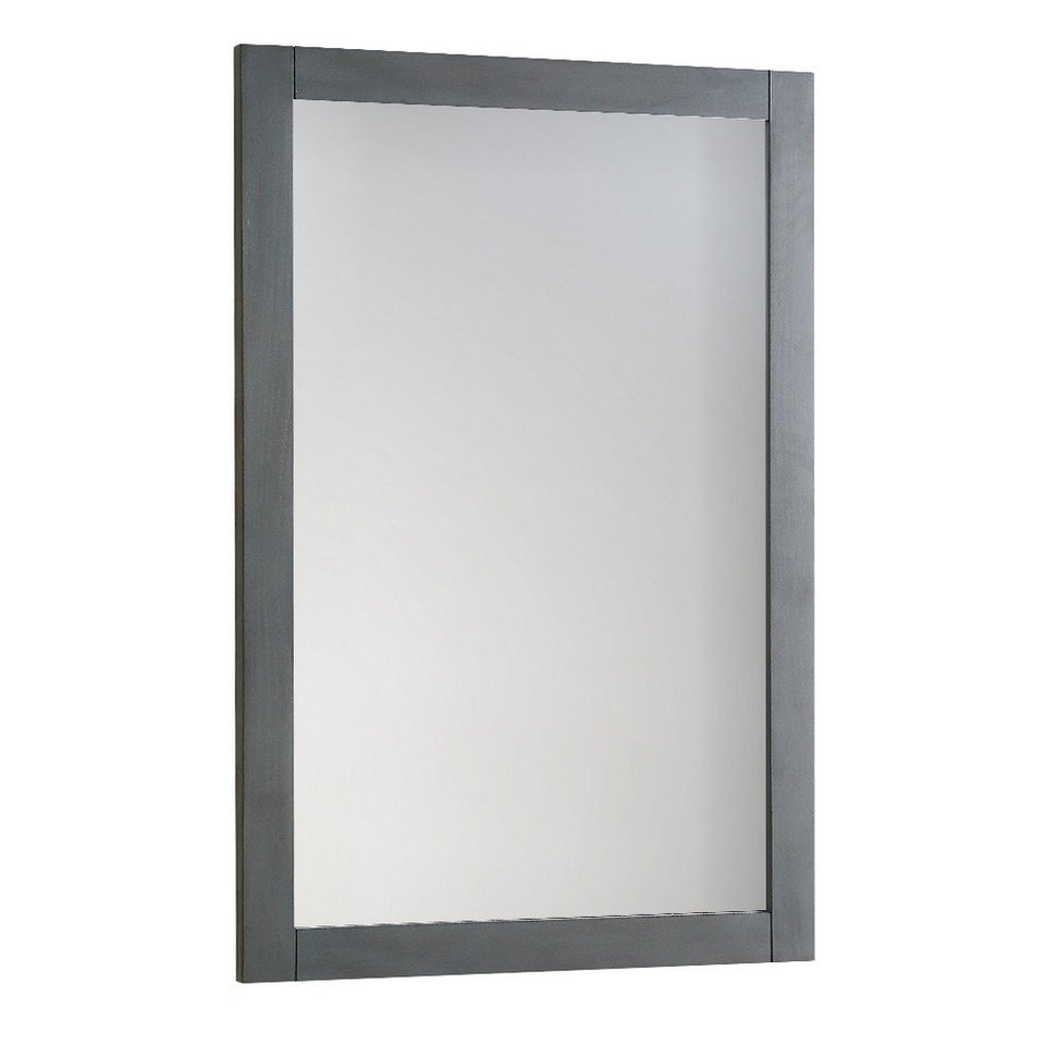 "Fresca Manchester 20"" Traditional Bathroom Mirror Fresca Mirrors Gray Wood Veneer"