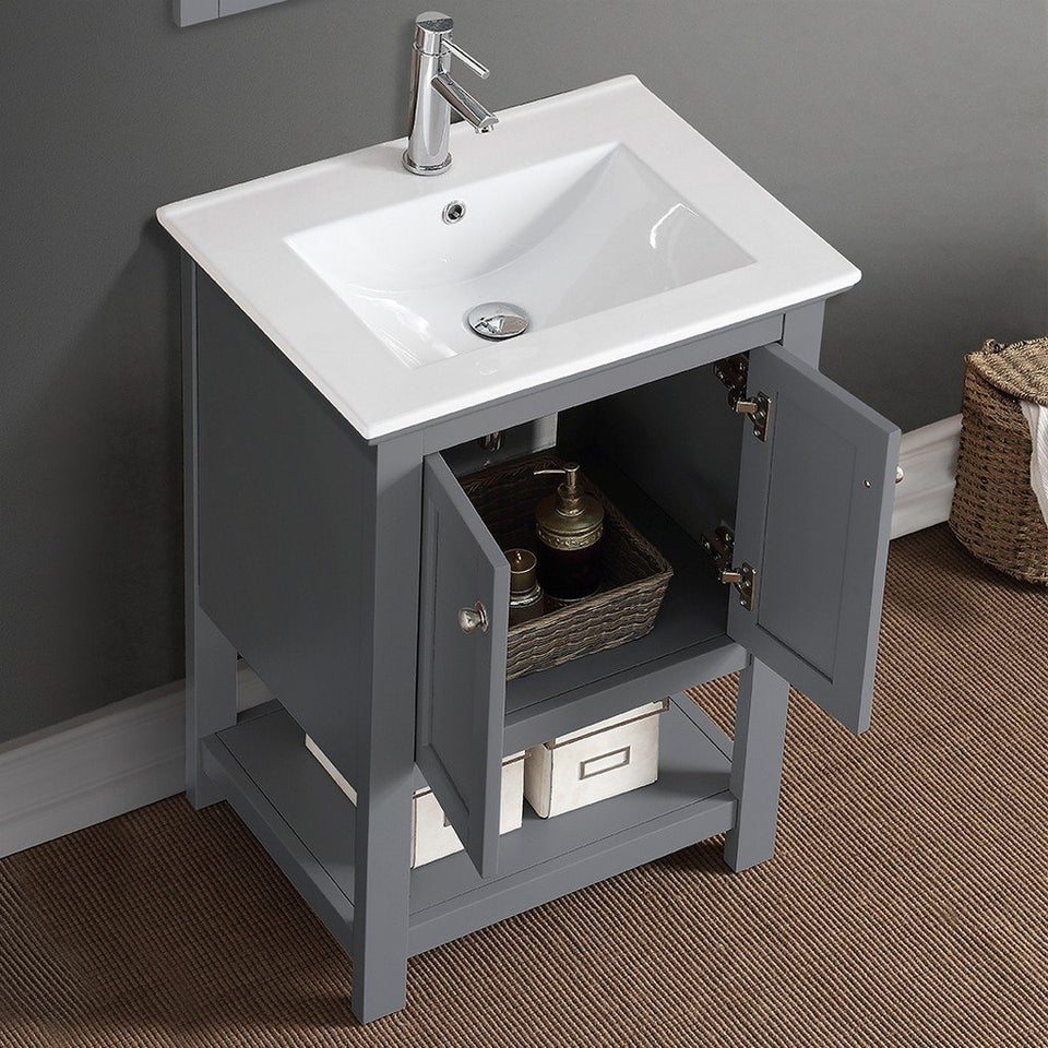 "Fresca Manchester 24"" Traditional Bathroom Vanity Fresca 24 inch Single Vanity"