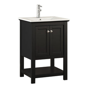"Fresca Manchester 24"" Traditional Bathroom Vanity Fresca 24 inch Single Vanity Black"